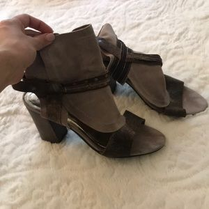 Genuine Leather distressed open toe sandals